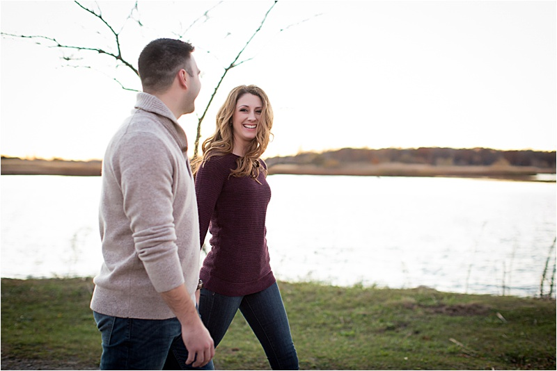 Sara & Steve | Nothing beats a fall sunset in Michigan