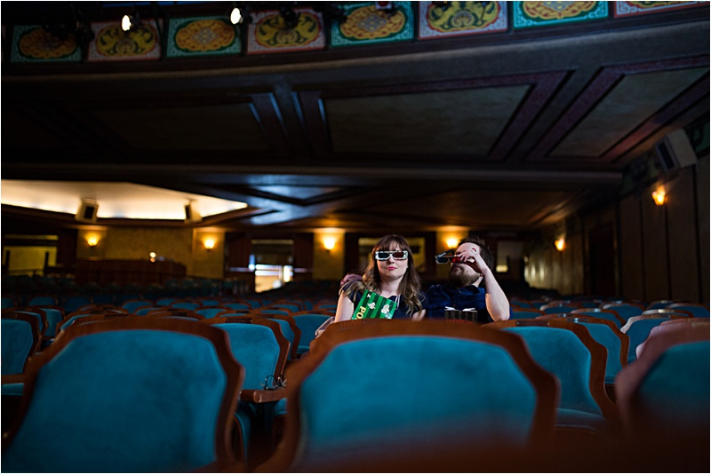 Redford Theater Engagement Session   Jade & Brian
