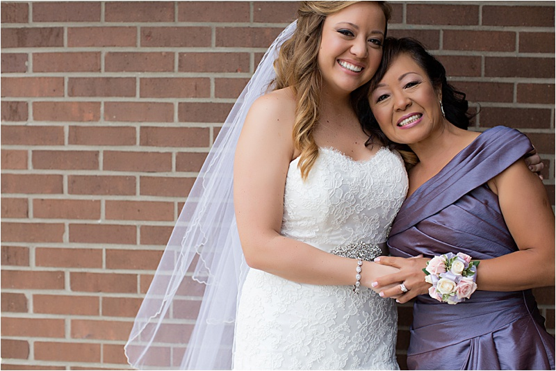 Bride and mom